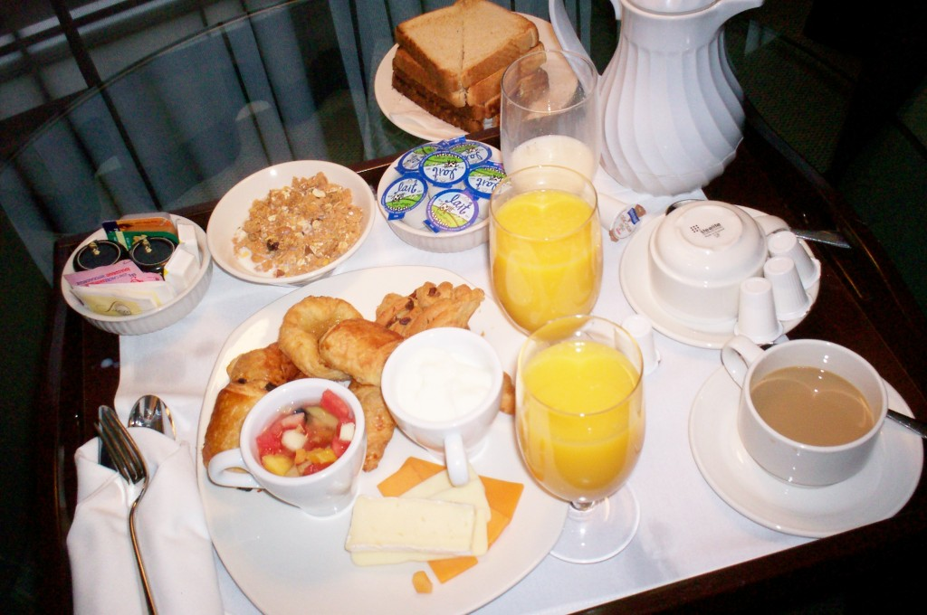 Hotel Le Crystal Montreal Review - Rooms Service Breakfast