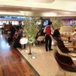 Virgin Atlantic Upperclass Clubhouse Business Lounge Heathrow Review 2014 restaurant