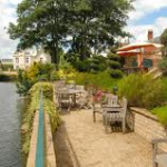 Castle House Hotel Outside Pond Lake View Water River