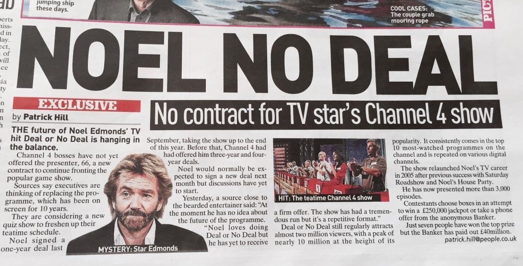 Noel Edmonds Leaves Deal Or No Deal Exclusive 2nd August 2015 Alex Belfield