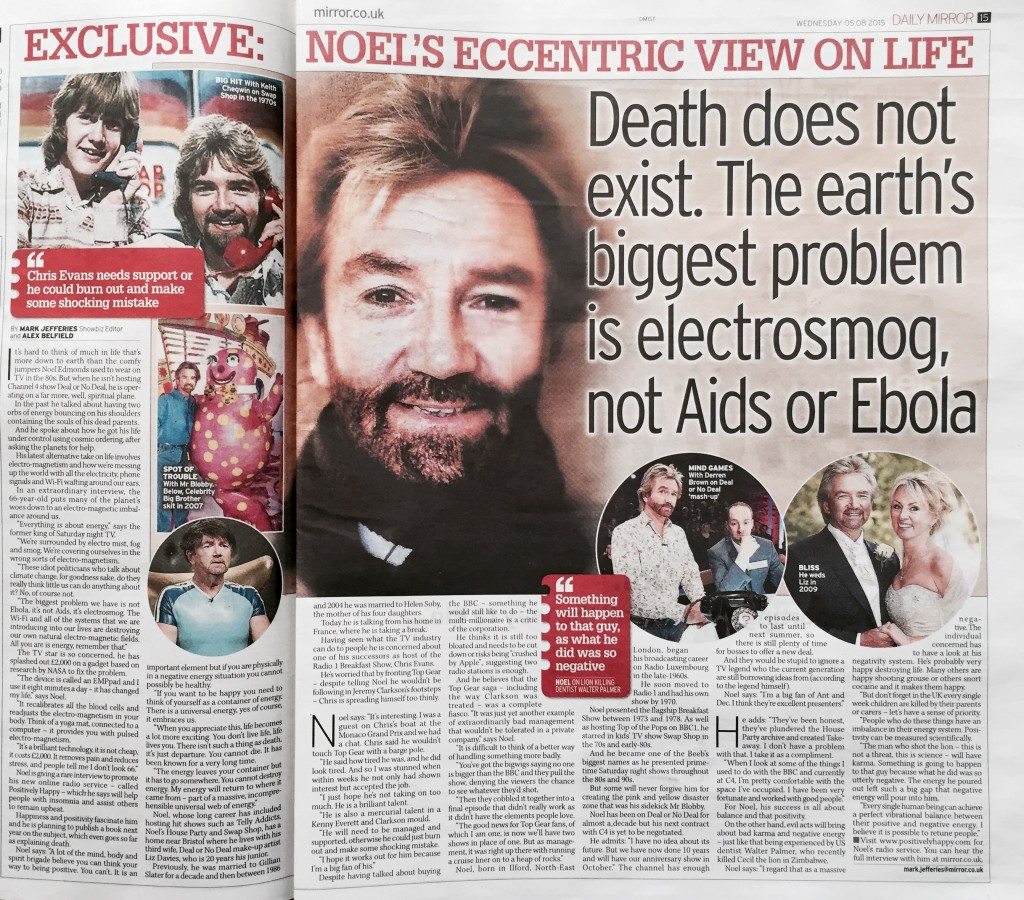 Noel Edmonds 5th August 2015