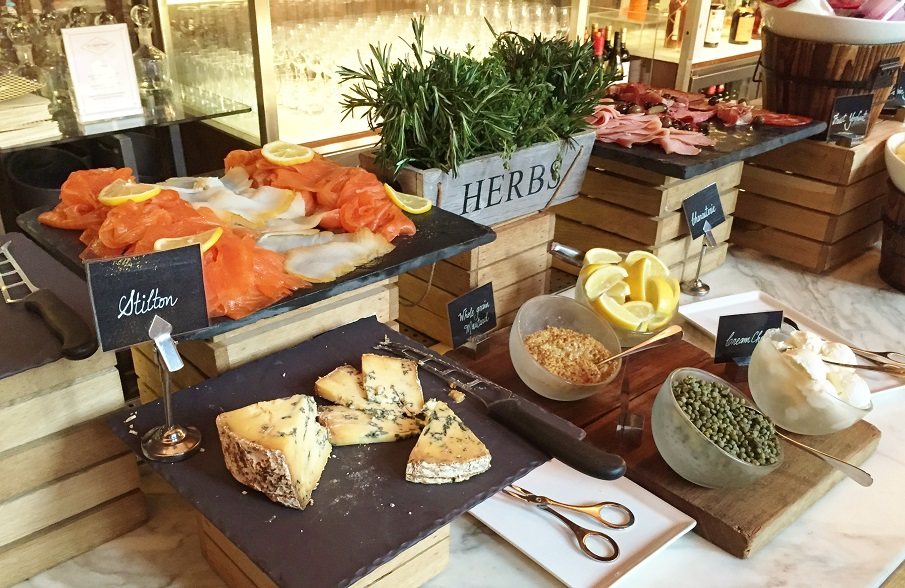 Breakfast Buffet Booking Office Review St Pancras Hotel Cold Meats