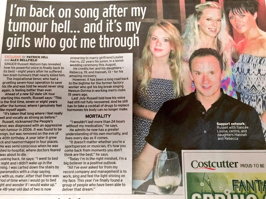 Russell Watson Alex Belfield Interview Sunday Mirror