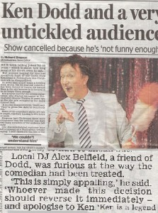 Ken Dodd Banned Nottingham Daily Mail
