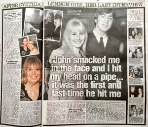 Cynthia Lennon 3rd April 2015 The Sun