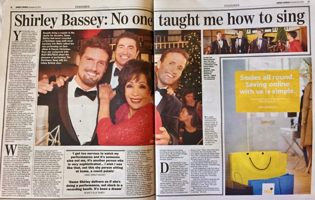Dame Shirley Blake Alex Belfield Sunday Express Exclusive Interview