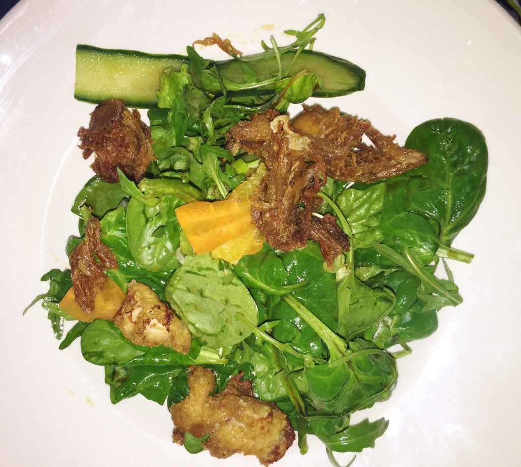 Browns Restaurant Review Sticky Duck Salad