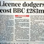 BBC Licence Fee Newspaper Exclusive